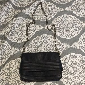 Black envelope cross body purse